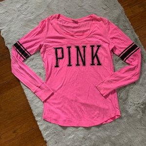 💖 VS PINK neon pink long sleeve shirt